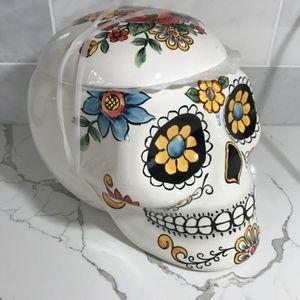Maxcear XXL Sugar Skull Halloween Cookie Jar New